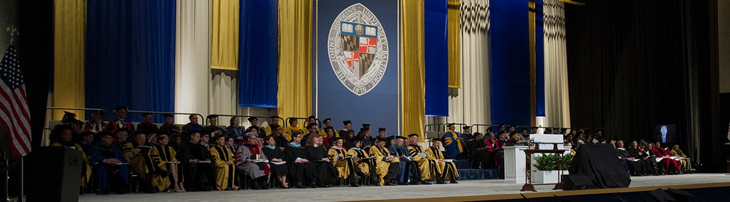 Photo of Commencement ceremony stage