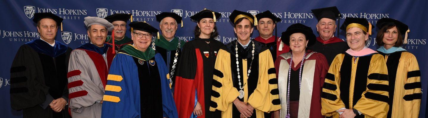 2018 Faculty Regalia | Johns Hopkins University Commencement