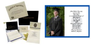 Photo of graduation announcements