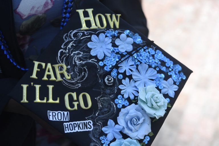 Picture of a decorated mortarboard