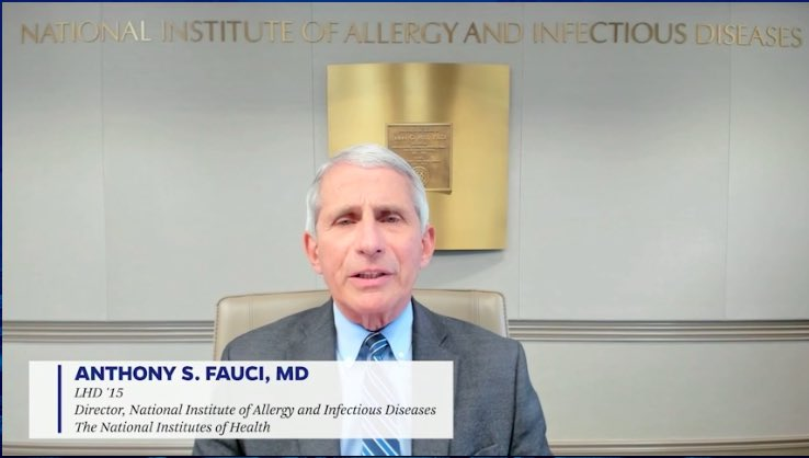 Dr. Fauci message